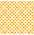 autumn gingham seamless pattern vector image