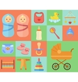 Baby icons set made in flat design vector image
