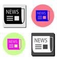 bent newspaper flat icon vector image vector image