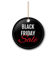 black friday sale label with rope white background vector image