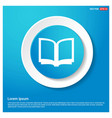 book mark icon abstract blue web sticker button vector image vector image