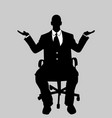 business man black and white 16 vector image