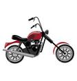 cartoon motorcycle of vector image vector image