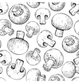 Champignon mushroom hand drawn seamless vector image vector image
