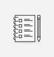 checklist with pencil outline concept icon vector image