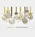 christmas background with shining stars bows vector image vector image
