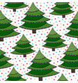 christmas trees seamless pattern green wrapping vector image vector image