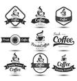 Coffee label 3 vector image vector image