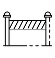 construction barrier icon outline style vector image