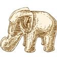 Elephant Figurine Isolated Over White vector image