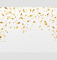 golden confetti falling gold foil ribbons flying vector image