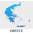 greece map in europe continent design vector image vector image