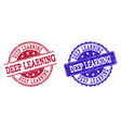 grunge scratched deep learning stamp seals vector image