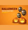 happy halloween party invitation vector image