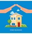 Home insurance concept in vector image