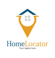home location logo vector image