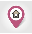 Home map pin icon vector image vector image