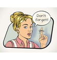 Housewifes reminder vector image vector image