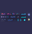 infographic dashboard template ui ux kit design vector image vector image