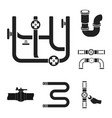 isolated object of pipe and plumbing sign set of vector image