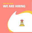 join our team busienss company chef we are hiring vector image vector image