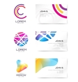 logo and business card template Abstract vector image vector image
