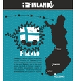 Map of Finland and emblem print vector image