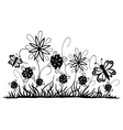 Meadow with flowers vector image vector image