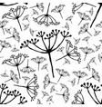 out bloom caraway seamless pattern vector image