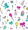 party seamless pattern celebration hand drawn vector image vector image