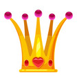 princess crown tiara adorned with heart-shaped vector image vector image