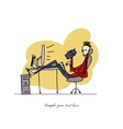 Programmer at work sketch for your design vector image vector image