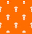 retro robot pattern seamless vector image vector image