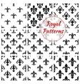 Royal fleur-de-lis floral seamless patterns vector image vector image