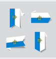 san marino flag stickers and labels vector image vector image