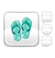 Sea beach and travel icon with clogs shoes and vector image vector image
