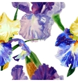 Seamless pattern with color irises1-05 vector image vector image