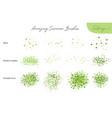 set summer foliage ecology brushes vector image vector image