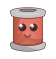 sewing threads comic character isolated icon vector image