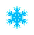 snowflake icon for new year and christmas design vector image