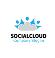 Social Cloud Design vector image vector image