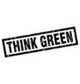square grunge black think green stamp vector image vector image