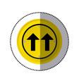 sticker yellow circular frame same direction arrow vector image vector image