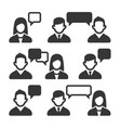 talking and speaking people icons set vector image vector image