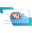 team work landing page template website layout vector image