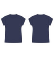 technical sketch navy blue tee shirt isolated vector image vector image