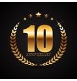 template logo 10 years anniversary