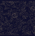 the rose seamless pattern vector image vector image