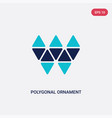 two color polygonal ornament icon from geometry vector image vector image