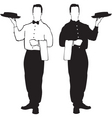 waiter design vector image vector image